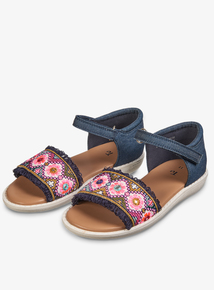 f34d3930b0f Multicoloured Floral Embroidered Sandals (Infant 4-12)