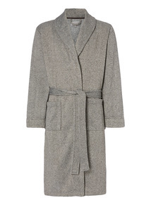 Grey Herringbone Dressing Gown
