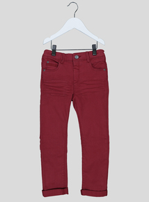 Red Stretch Denim Jeans (9 months-6 years)