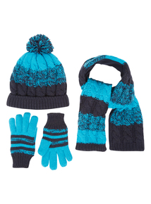 Boys Blue Cable Knit Set (1-12 years)
