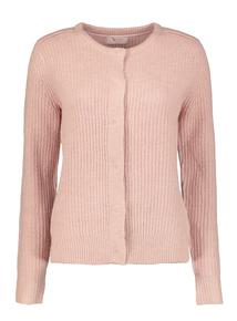Premium Pink Ribbed Cardigan