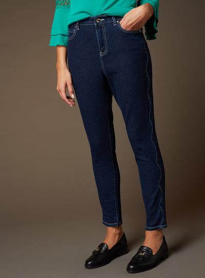 Premium Denim Scalloped Trim Jeans