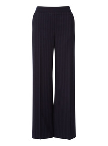 Wide Leg Pinstripe Trousers