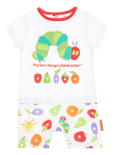 Baby White Very Hungry Caterpillar Romper