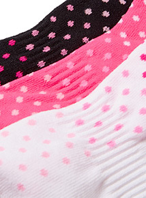 3 Pack Ombre Spot Print Sports Socks