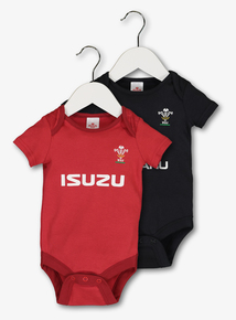 WRU Red & Black Bodysuits 2 Pack (0-18 months)
