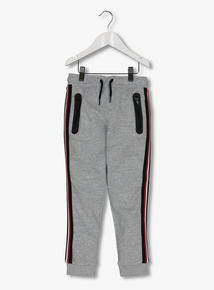 Grey Stripe Trim Joggers (3-14 years)