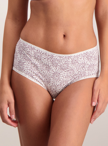 Multicoloured Lace Trim Midi Knickers 5 Pack