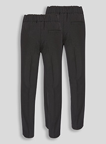 Black Woven Trousers 2 Pack (3-12 years)
