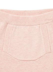 Pink Bear Knitted Top and Bottoms Set (0-12 months)