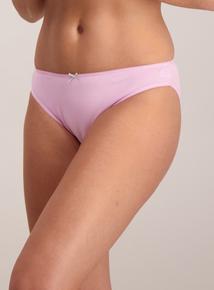 Grey & Pink Animal Print High Leg Knickers 5 Pack