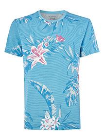 Blue Paradise Print T-Shirt