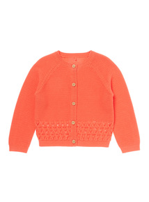 Red Textured Cardigan (0-24 months)