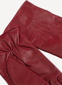 Dark Red Leather Globes