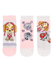 Girls Pink Paw Patrol Socks 3 Pack