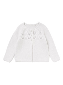Grey Buttoned Knitted Cardigan (0-24 months)