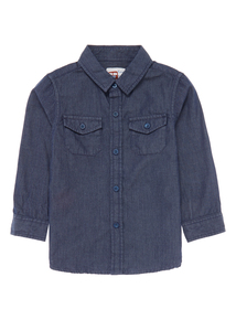 Boys Navy Cord Shirt (9 months - 5 years)