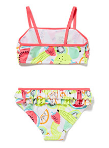 Multicoloured Fruit Print Bikini Set (5-12 years)