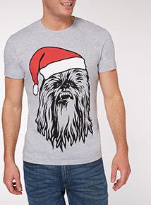 Grey Christmas Disney Star Wars Chewie Tee