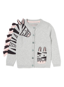 Grey Zebra Cardigan (9 months-6years)