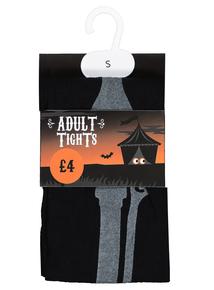 Halloween Black Skeleton Tights (XS - XL)