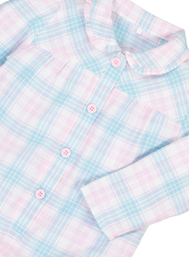 Pink and Aqua Woven Check Sleepsuit (9 months-6 years)