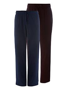2 Pack Jersey Pyjama Bottoms
