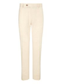 Stone Linen Rich Herringbone Trousers
