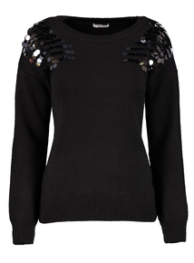 Black Sequin Jumper