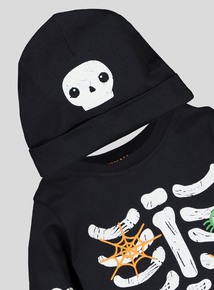 Halloween Skeleton Onesie & Hat Set (0-24 months)