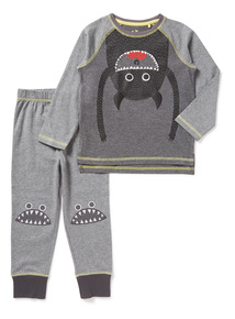 Boys Grey Monster Pyjama Set (1-8 years)