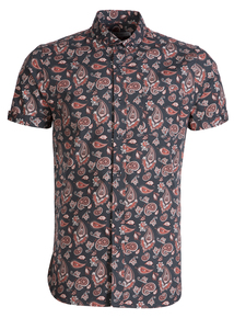 Frontman Green Paisley Print Slim Fit Shirt