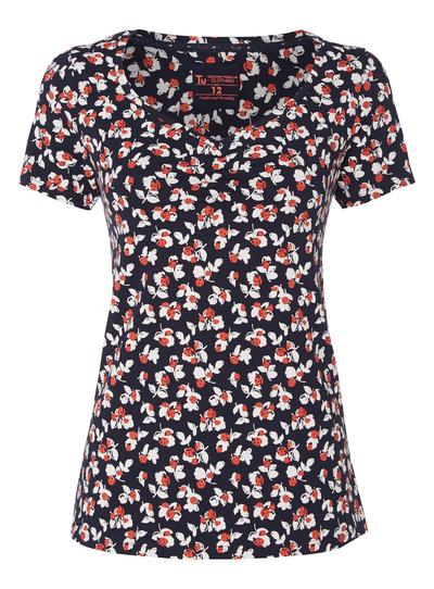 Womens Black Ladybird Pattern Top | Tu clothing