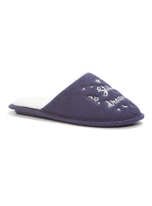 Navy Dreaming Mule Slippers