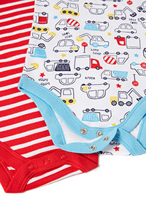 5 Pack Multicoloured Sleeveless Bodysuits (Newborn-36 months)