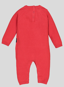 Christmas Red Santa Knitted Romper Set (0-24 months)