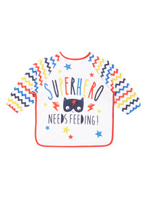 Blue Long Sleeve Superhero Bib
