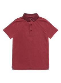 Burgundy Short Sleeve Polo Shirt (3-14 years)