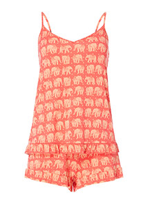 Elephant Print Pyjama Set