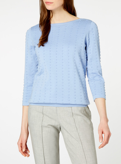Pale Blue Polka Dot Jumper