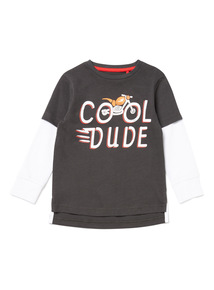 Black Cool Dude Top
