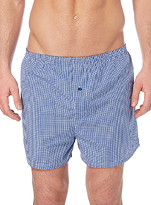 Navy Gingham Woven Boxer 3 Pack