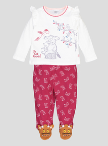 Gruffalo Dark Pink & Cream Long-Sleeved Top & Jogger Set (0 - 24 months)