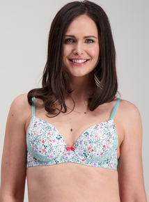Multicoloured Floral Print Underwired Plunge Bra a289b656d