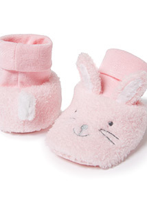 Pink Rabbit Booties (0-24 months)