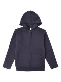 Unisex Navy Zip Thru Hoodie (13-16 Years)