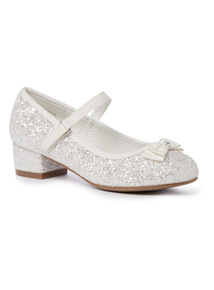 White Glitter Party Shoe