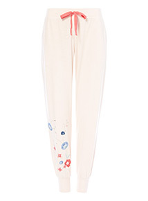 Floral Embroidered Pyjama Bottoms