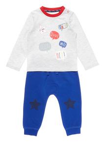 Blue Two Piece Jersey Set (0-24 months)