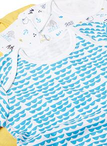 5 Pack Multicoloured Sea Life Bodysuits (Newborn-36 months)